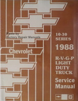 Chevrolet 10-30 Series 1988 R, V, G, P Light Duty Truck Service Manual