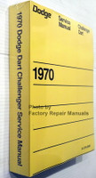 Dodge Service Manual Challenger Dart 1970 Spine View