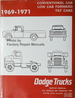 Factoryrepairmanuals factory service manuals original auto 1969 1970 1971 conventional cab low cab forward tilt cabs dodge trucks models 100 fandeluxe Images