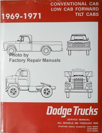 1969 1971 dodge truck 100 800 models factory shop service manual rh factoryrepairmanuals com service manual trucks volvo vhd frame rails service manual trucks volvo vhd frame rails