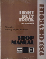 1983 Chevrolet Light Duty Truck 10-30 Series Shop Manual