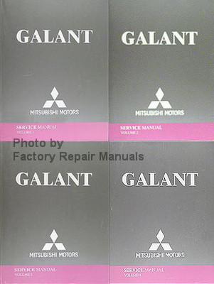 2004 mitsubishi galant factory service manual set original shop rh factoryrepairmanuals com Mitsubishi Galant Transmission Standard Mitsubishi Galant Manual PDF