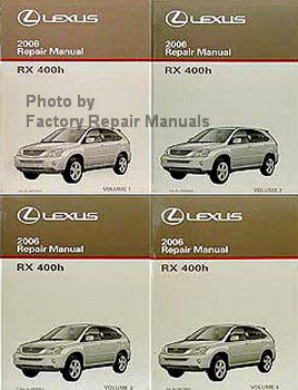 2006 lexus rx400h factory service manual set original shop repair rh factoryrepairmanuals com 2006 lexus rx400h owners manual download 2006 lexus rx400h owners manual pdf