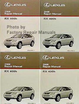 2006 lexus rx400h factory service manual set original shop repair rh factoryrepairmanuals com lexus rx400h service manual owner's manual lexus rx400h