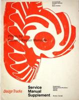 Dodge Truck Models 100-800 Conventional - 4x4 - Forward Control Service Manual 1971