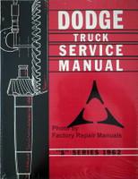 "Dodge Truck Service Manual ""S"" Series 1962"