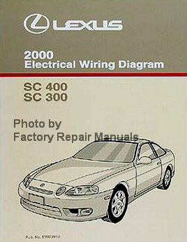 2000 lexus sc400 sc300 electrical wiring diagrams manual factory rh factoryrepairmanuals com lexus sc 400 repair manual free download lexus sc 400 repair manual 1997