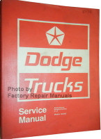 Dodge Truck Models 100-800 Conventional - 4x4 - Forward Control Service Manual