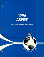 1996 Aspire Service Manual Ford