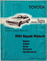 Toyota Celica Supra 1985 Repair Manual Engine Chassis Body Electrical Specifications