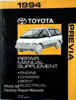 1994 Toyota Previa Repair Manual Supplement