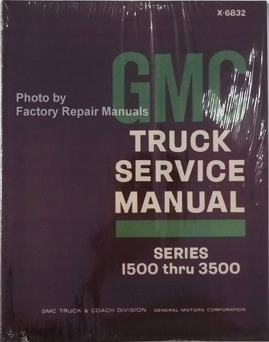 1968 gmc truck van suburban 1500 3500 factory shop service manual rh factoryrepairmanuals com gm factory service manual gm factory service manual