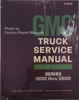1968 GMC Truck Service Manual Series 1500 thru 3500