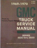 1969 1970 GMC Truck Service Manual Series 1500 thru 3500