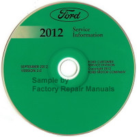 Ford 2012 Service Information Fiesta