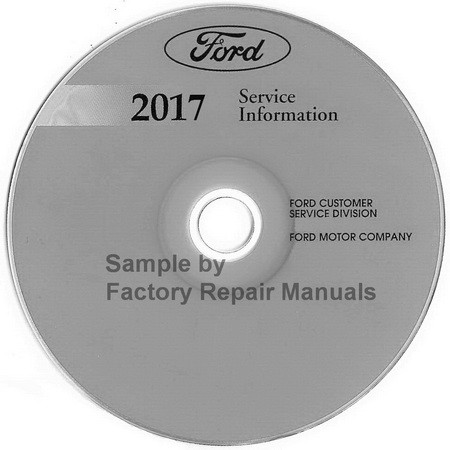ford  motorhome  factory service manual cd