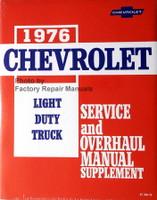 1976 Chevrolet Light Duty Truck Service and Overhaul Manual Supplement