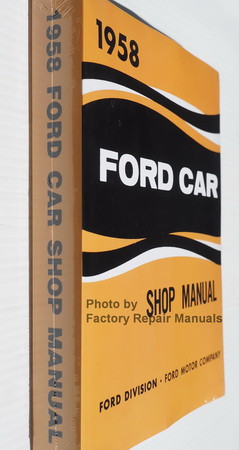 1958 Ford Car Shop Manual Spine View