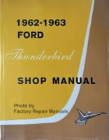 1962 1963 Ford Thunderbird Shop Manual