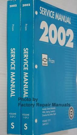 2002 Chevrolet Prizm Service Manuals Spine View