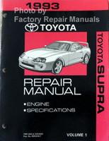1993 Toyota Supra Repair Manuals Volume 1