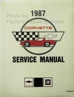 1987 Chevrolet Corvette Service Manual Reprint