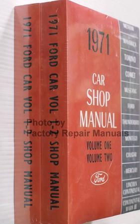 1971 Ford Lincoln Mercury Car Shop Manual Volume 1, 2, 3, 4, 5 Spine View