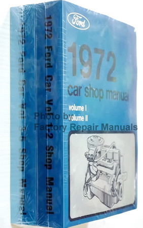 1972 Ford Lincoln Mercury Car Shop Manual Volume 1, 2, 3, 4, 5 Spine View