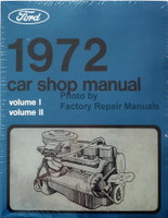1972 Ford Lincoln Mercury Car Shop Manual Volume 1, 2, 3, 4, 5