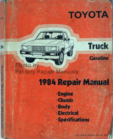 1984 toyota pickup truck gas models factory shop service repair rh factoryrepairmanuals com Engine Overhaul Manual Car Engine Overhaul