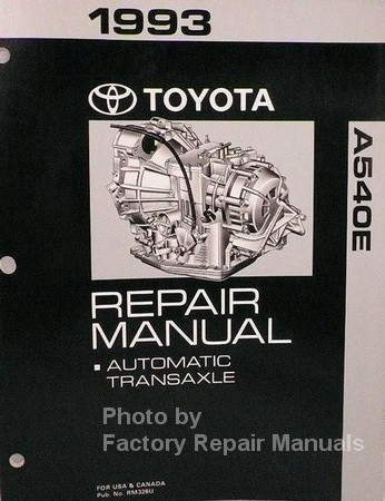 toyota a540e automatic transmission repair manual 1993 camry v6 rh factoryrepairmanuals com 02 Mazda Protege5 Repair Manuals Truck Manual
