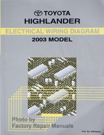 2003 toyota highlander electrical wiring diagrams original factory rh factoryrepairmanuals com 2003 toyota highlander repair manual pdf toyota highlander 2003 user manual