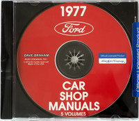 1977 Ford Lincoln Mercury Car Shop Manual 5 Volumes CD