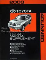 2003 Toyota 4Runner Repair Manual V6 Supplement
