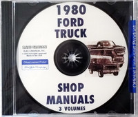 1980 Ford Truck Shop Manuals 3 Volumes