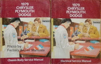 1979 Chrysler Plymouth Dodge Service Manual Volume 1 and 2