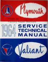 1964 Plymouth Service Technical Manual Valiant