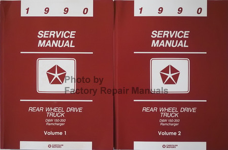1990 Service Manual D&W 150-350 Ramcharger