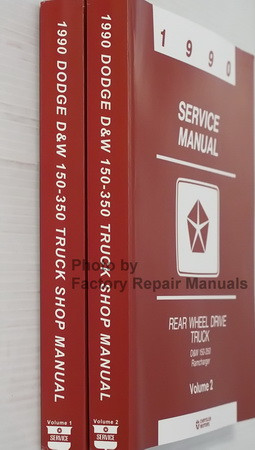 1990 Service Manual D&W 150-350 Ramcharger Spine View