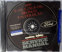 1995 Ford F150 F250 F350 Truck F-Super Duty Bronco Service Manual 3 Volumes on CD