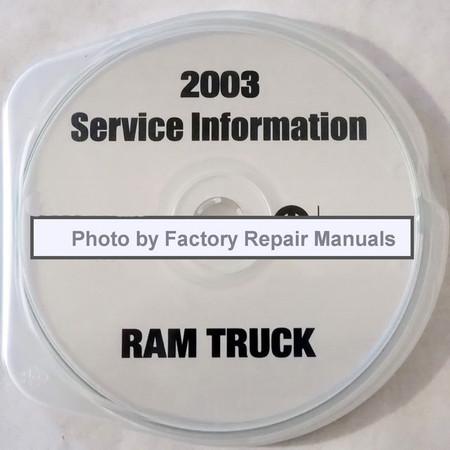 2003 Service Manual DR Ram Truck CD 1500-2500-3500
