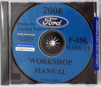 Ford Lincoln 2006 F-150, Mark LT Workshop Manual Volume 1 and 2 on CD