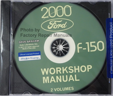 2000 Ford F-150 Workshop Manuals Volume 1 and 2 on CD