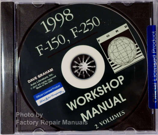 1998 Ford F-150, F-250 Workshop Manual Volumes 1 and 2 on CD