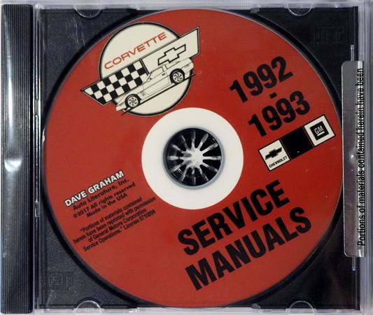 1992 1993 chevy corvette factory service manual shop repair cd rh factoryrepairmanuals com 1993 corvette factory service manual pdf 1993 corvette factory service manual pdf