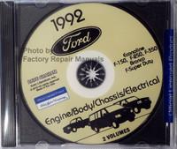 Ford Econoline, F-150, F-250, F-350, Bronco, F-Super Duty 1992 Service Manual 1, 2