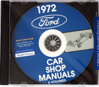 1972 Ford Lincoln Mercury Car Shop Manual Volume 1, 2, 3, 4, 5 on CD