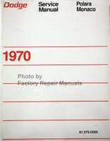 Dodge Service Manual Polara Monaco 1970