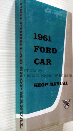 1961 Ford Car Shop Manual Spine View
