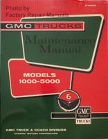 1960 1961 GMC Truck Service Manual 1000-5000